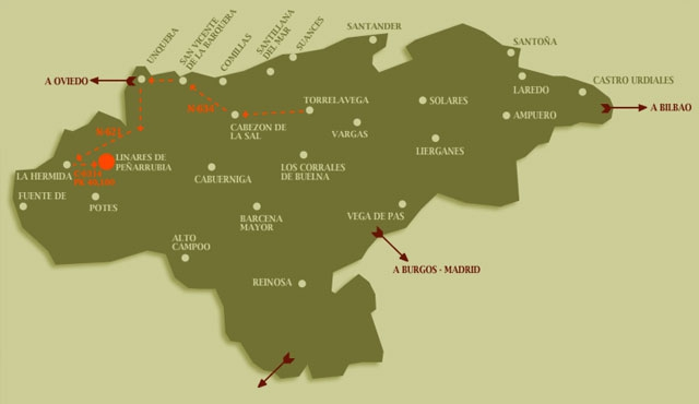 Localización de Casa Rural Pocotrigo