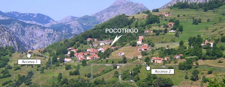 Accesos a la Casa Rural Pocotrigo